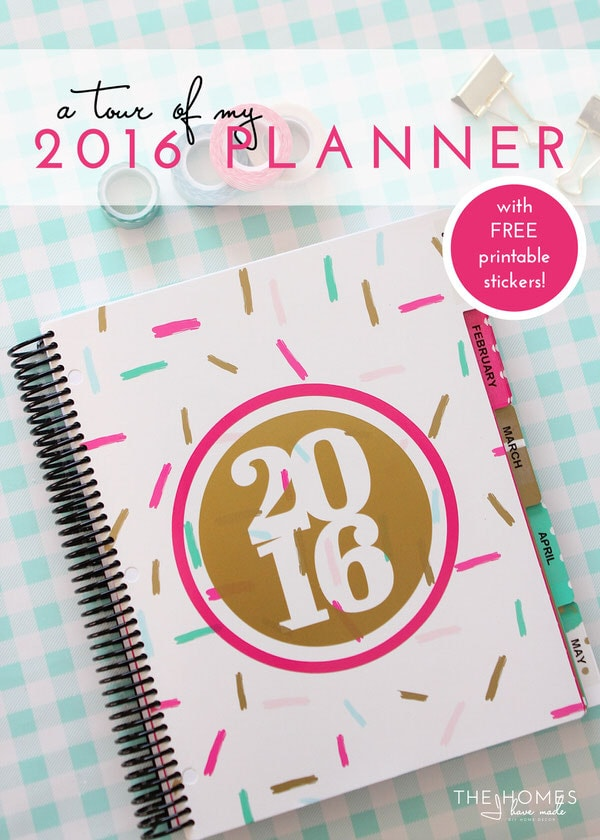 My 2016 Planner with FREE Printable Planner Labels