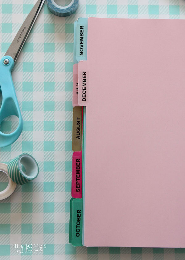 DIY Tabbed Dividers