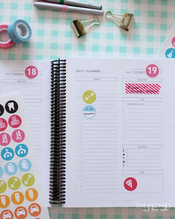 A Tour of My 2016 Planner (with Printable Planner Stickers ...