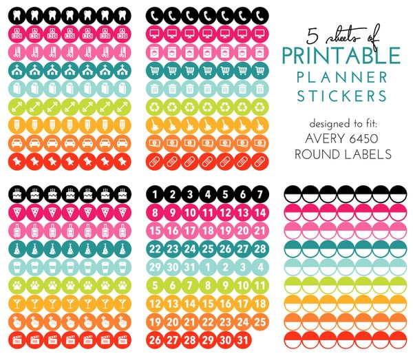 graphic about Avery Printable Stickers titled A Excursion of My 2016 Planner (with Printable Planner Stickers