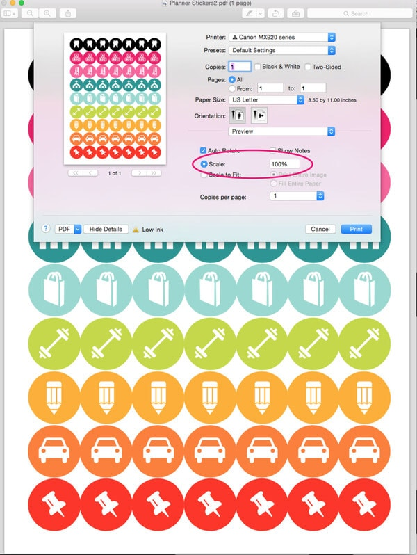 Free ready to print planner stickers