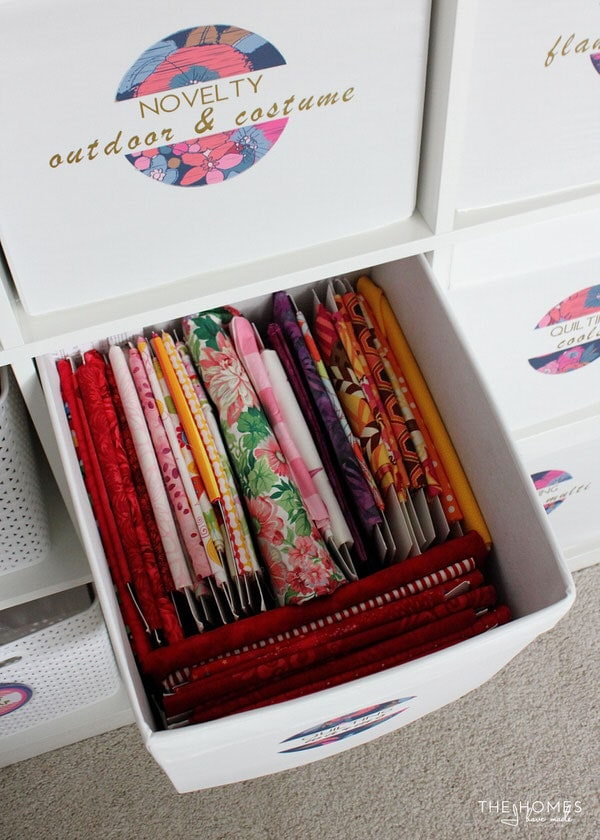 IKEA Baskets to Hold Fabric