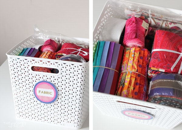 Baskets to Hold Fabric Sets