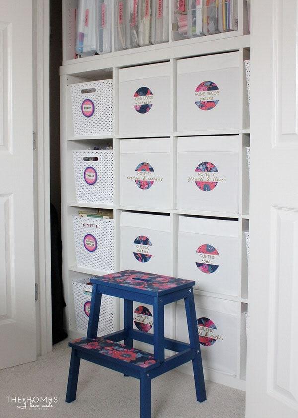 Fabric Storage in an IKEA Kallax