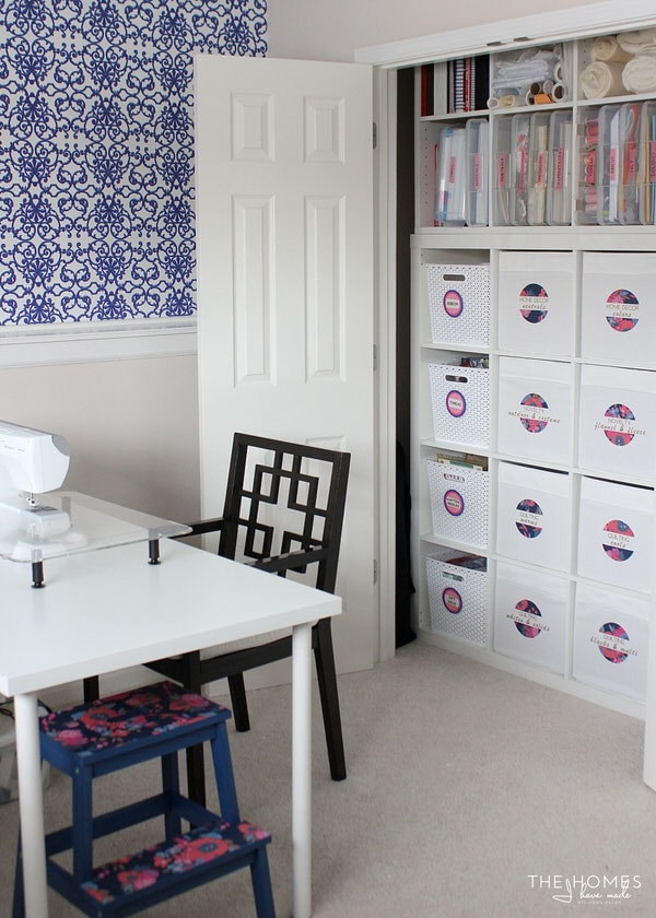 Cobalt and Raspberry Craft Room