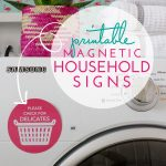 Printable Magnetic Household Signs