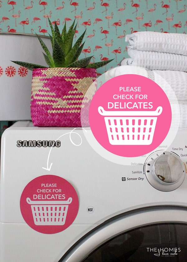 FREE Printable Magnetic Laundry Room Sign