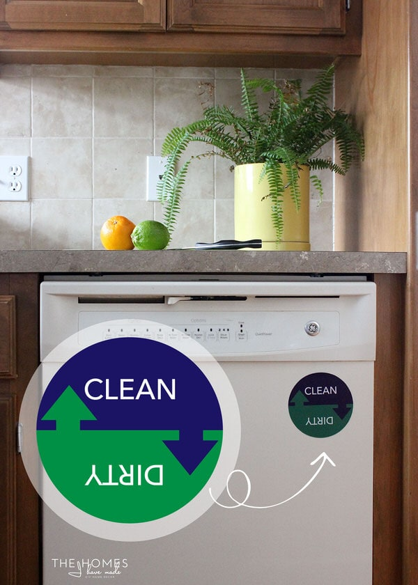 FREE Printable Magnetic Dishwasher Sign