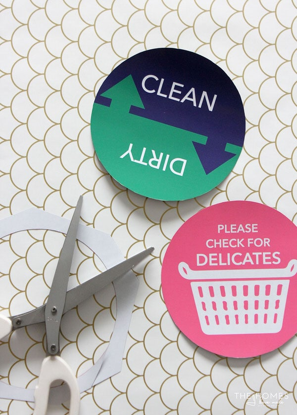 FREE Printable Magnetic Household Signs