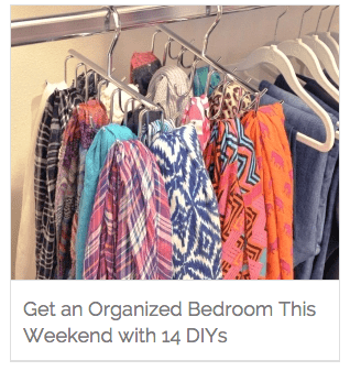 The Homes I Have Made @ Coupons.com | 14 DIYs to Organize Your Bedroom