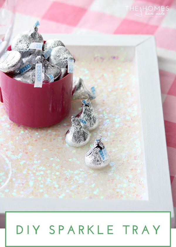 The Homes I Have Made @ My Daily Bubble | DIY Glitter Tray