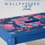 DIY Wallpapered Stool (An IKEA BEKVÄM Hack)