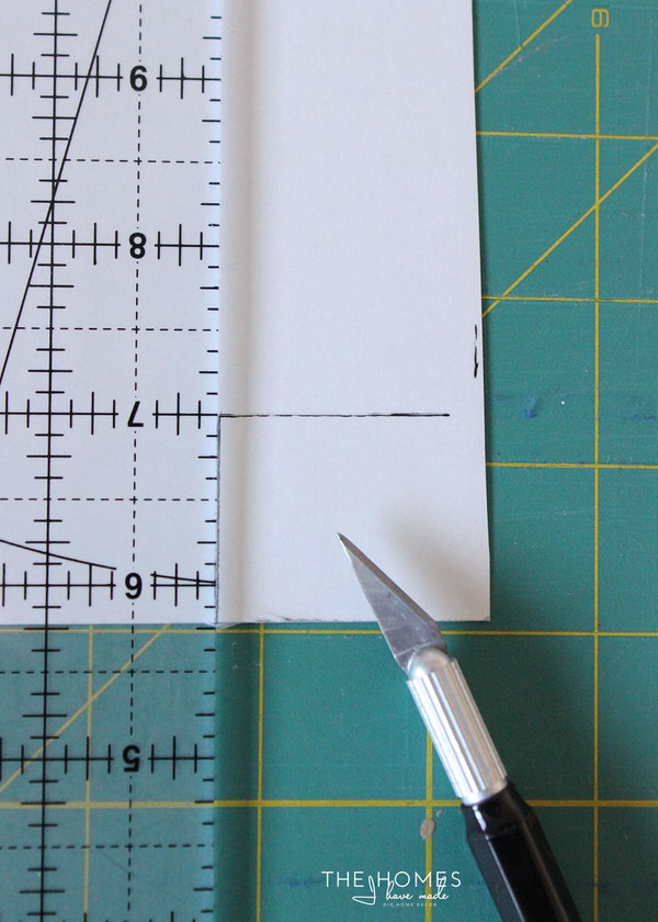 DIY Wallpapered Stool | Cut Paper