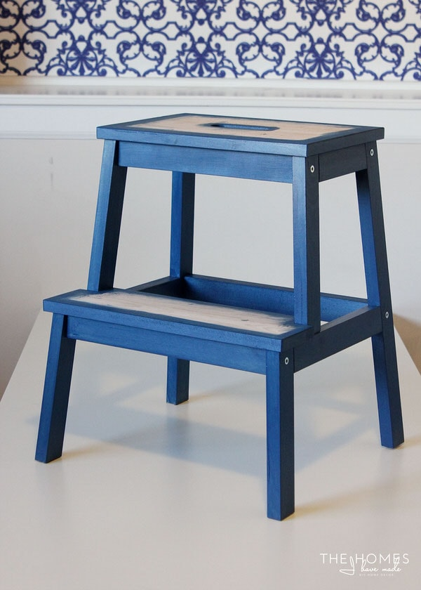 DIY Wallpapered Stool | Assemble Stool
