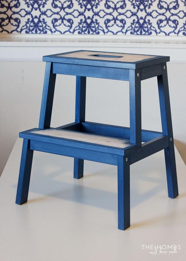 DIY Wallpapered Stool | Assemble Stool