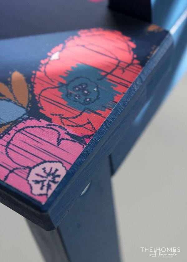 DIY Wallpapered Stool | Seal Edges