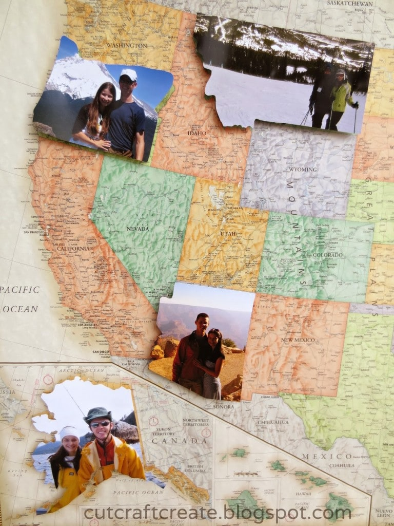 Map With Pictures via Cut Craft Create