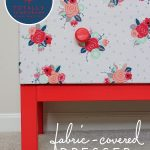 1 Dresser, 4 Totally Temporary Transformations | Fabric-Covered Dresser