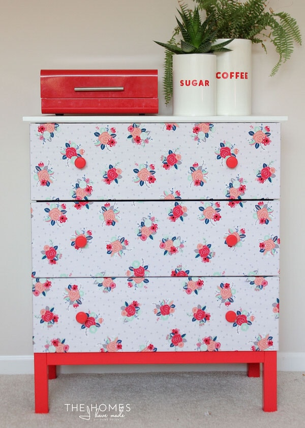 1 Dresser, 4 Temporary Transformations | How to Make a Fabric-Covered Dresser