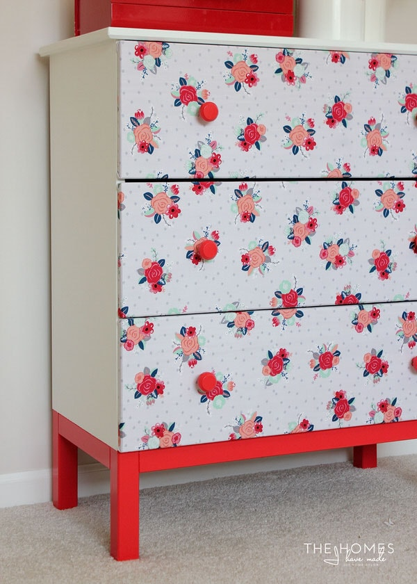 Fabric-Covered Dresser