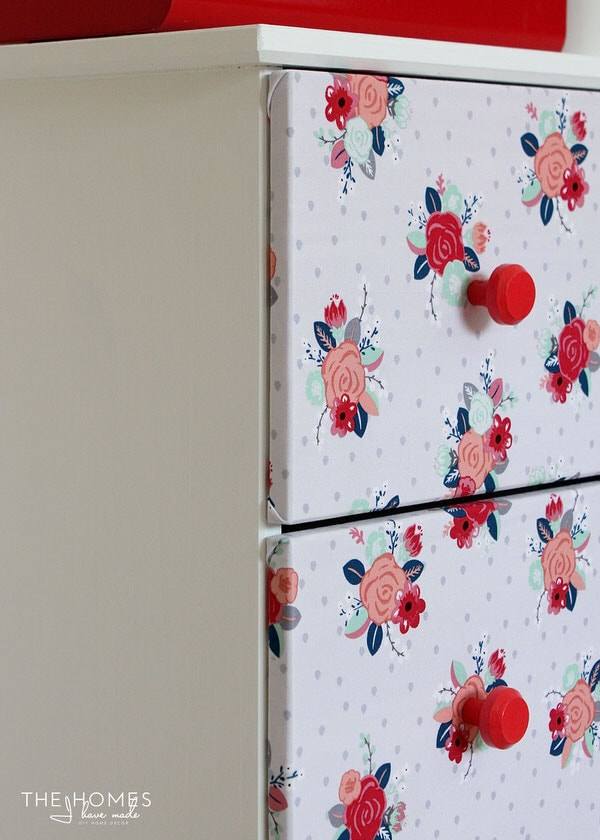 How to Make a Fabric-Covered Dresser | Staple Fabric to Drawer Fronts