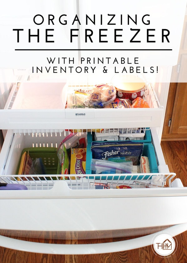 Organizing the Freezer (with FREE printable inventory and labels!)
