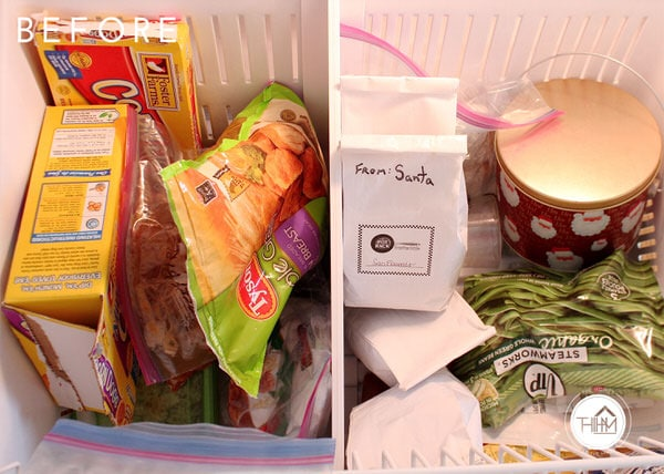 Freezer Organization | Before