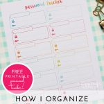Printable Password Tracker (and some other digital organizing tips!)