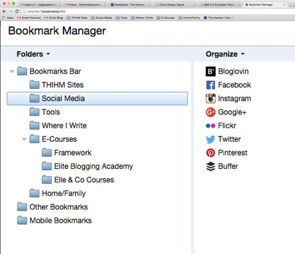 How to Keep your Bookmarks Sorted