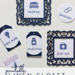 Labeling in the Linen Closet (with FREE printable labels!)