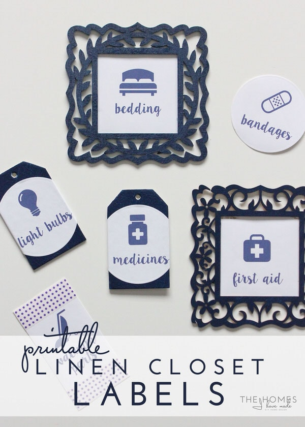 Printable Linen Closet Labels | Get Your Closet Organized Today!