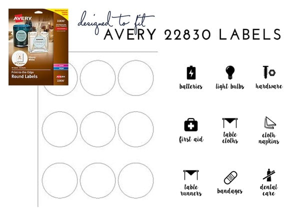Printable Linen Closet Labels | Use Avery 22830 Labels