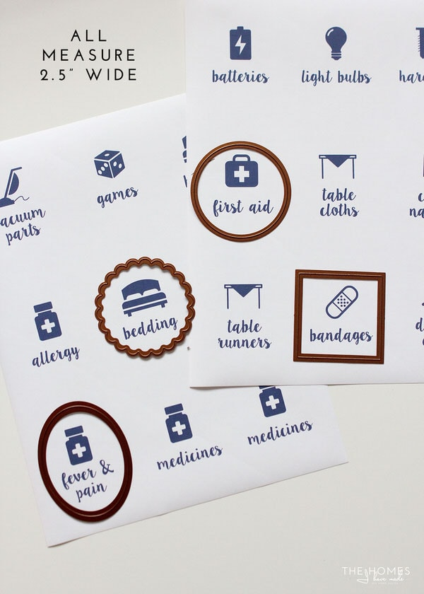 Printable Linen Closet Labels
