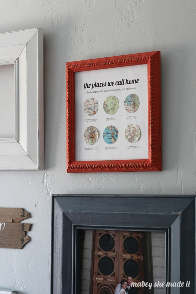 Map Decor via Made From Pinterest