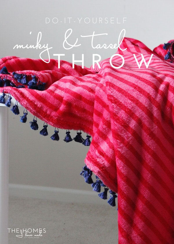 Minky and Tassel Throw-02