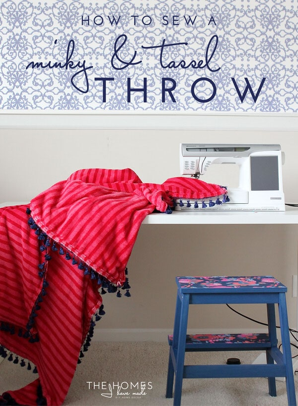 How to Sew | DIY Minky & Tassel Throw