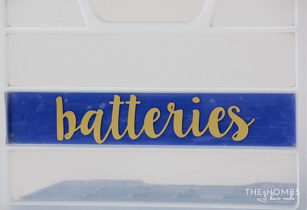 Organize This: Batteries | Front Label