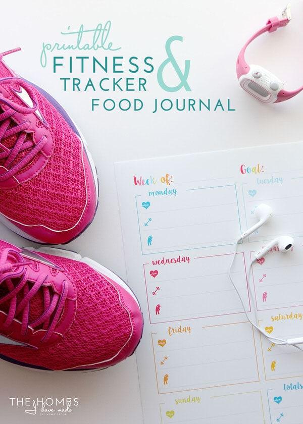 Printable Fitness Tracker & Food Journal