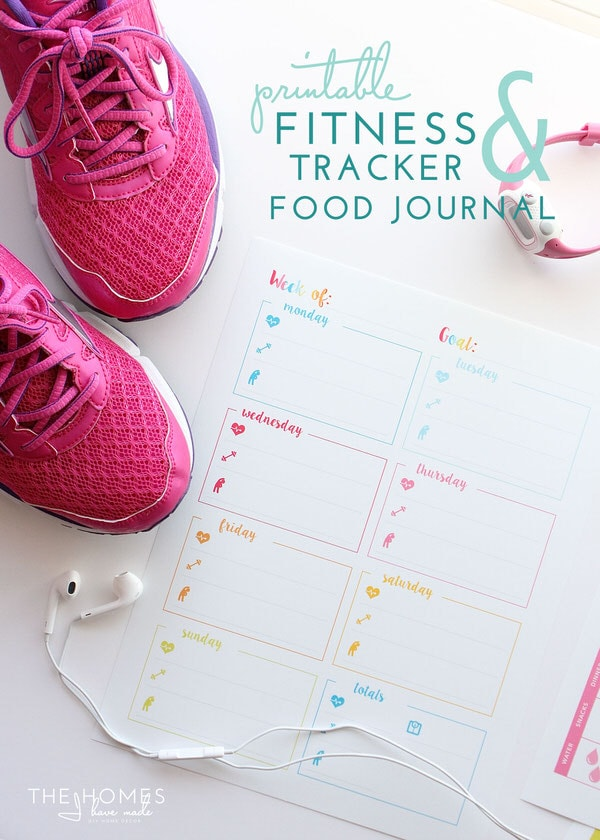 picture relating to Printable Workout Journals referred to as Printable Exercise Trackers and Food items Magazine The Houses I