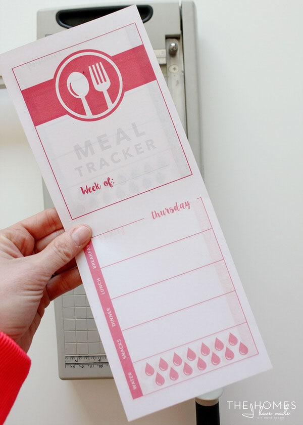 Printable Food Journal | Print and Cut