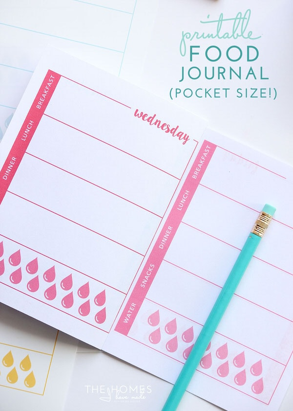 Printable Food Journal (pocked-sized!)