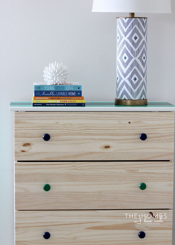 IKEA Tarva Hack: Rugby Striped Dresser With Washi Tape