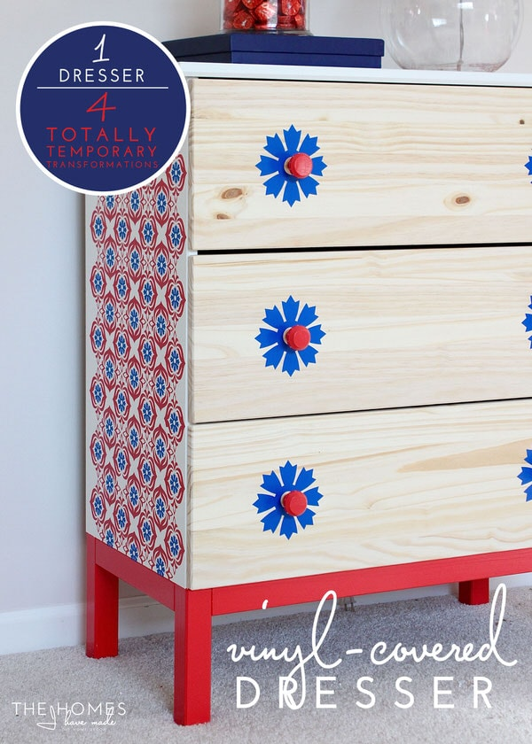1 Dresser, 4 Ways | Vinyl-Covered Dresser