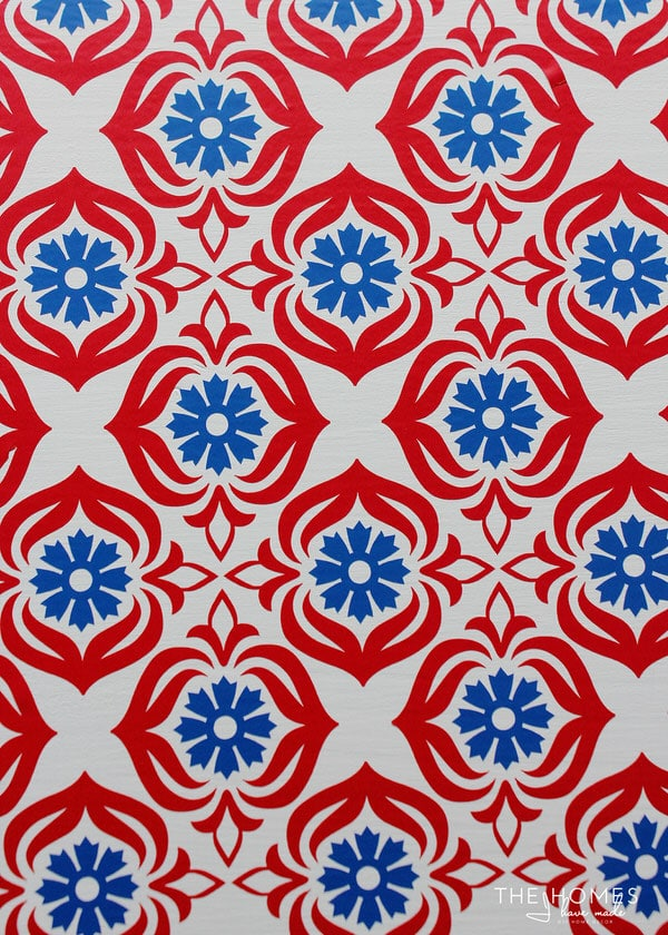 Red and Blue Floral Pattern   1 Dresser 4 Ways