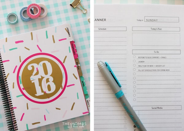 How I Organize My Week (with a FREE printable planner!)