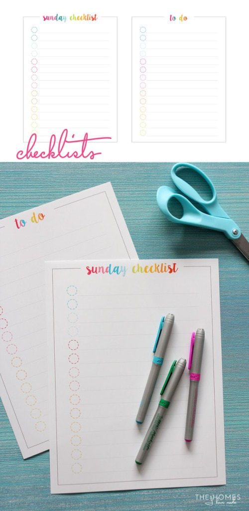 FREE Weekly Organizing Printables