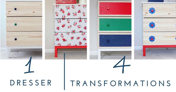 Ikea Dresser Transformation ~ IKEA Dresser  4 Totally Temporary Transformations (Recap and VOTE