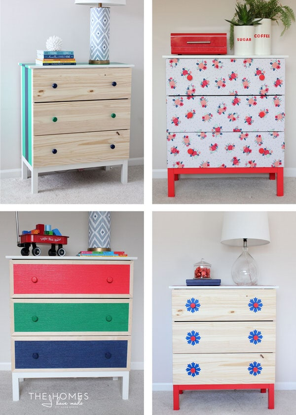 1 IKEA Dresser | 4 Totally Temporary Transformations