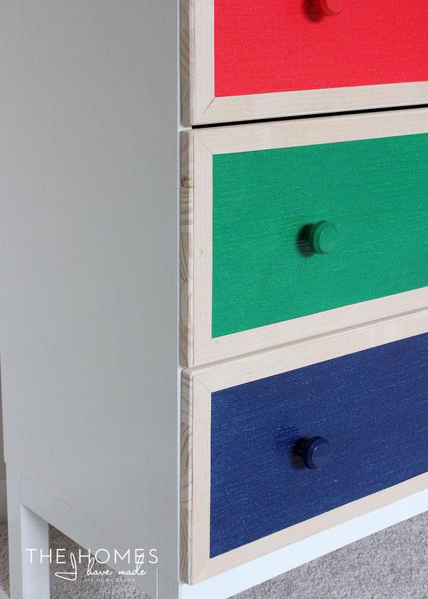 1 Dresser, 4 Temporary Transformations   Wallpaper-Covered Dresser