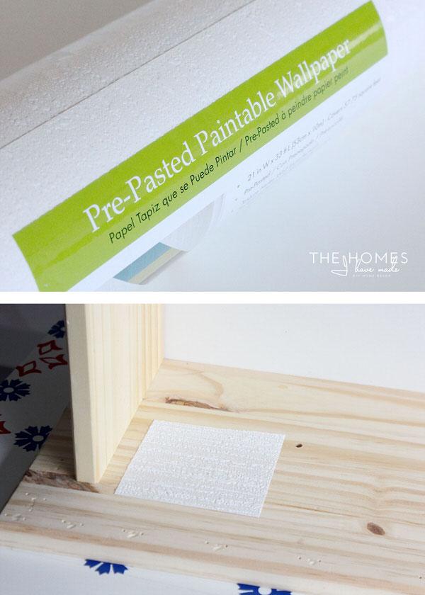 Wallpaper Covered Dresser | Paintable Wallpaper